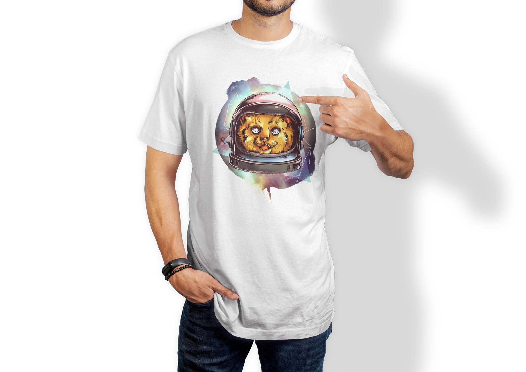 T-shirt Space kitty
